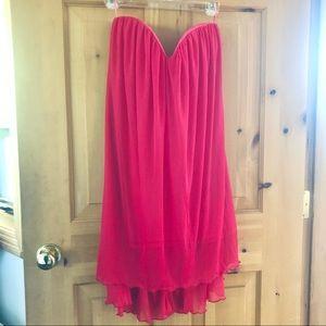 ASOS Strapless Sweetheart Magenta Cocktail Dress